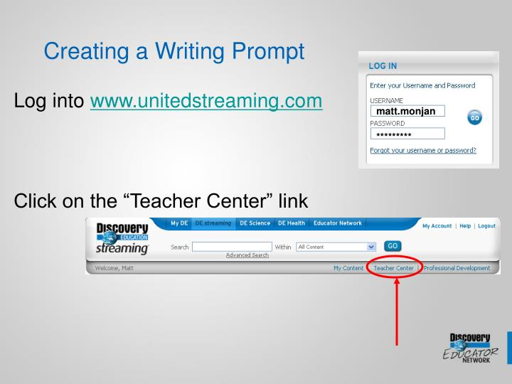 Creating a writing prompt