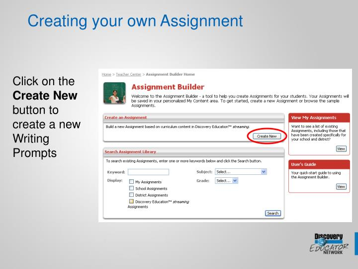 Creating your own Assignment