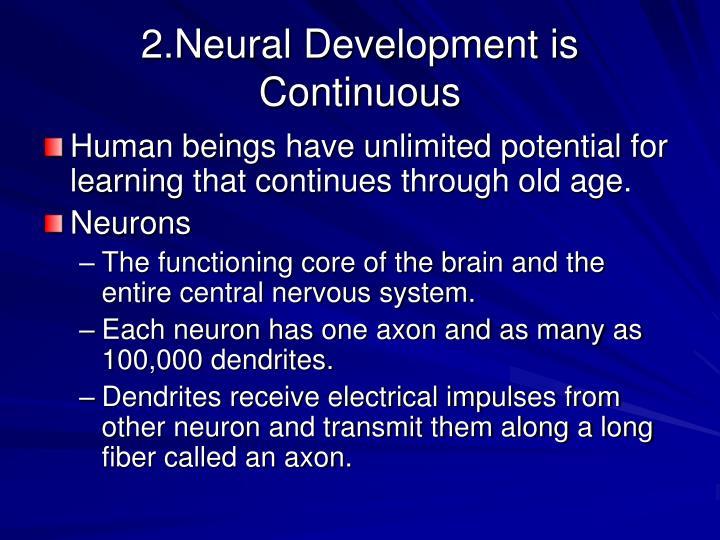 2.Neural Development is Continuous