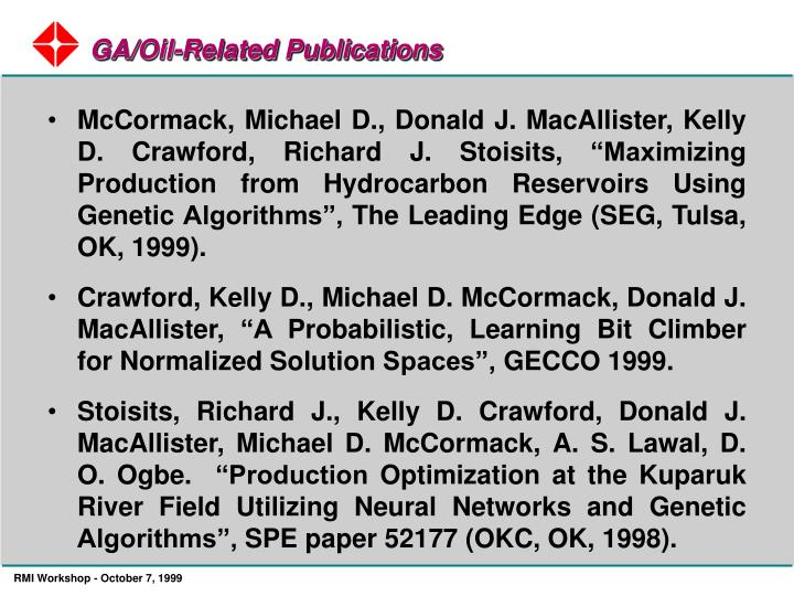 GA/Oil-Related Publications