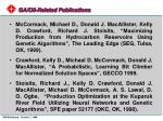 ga oil related publications