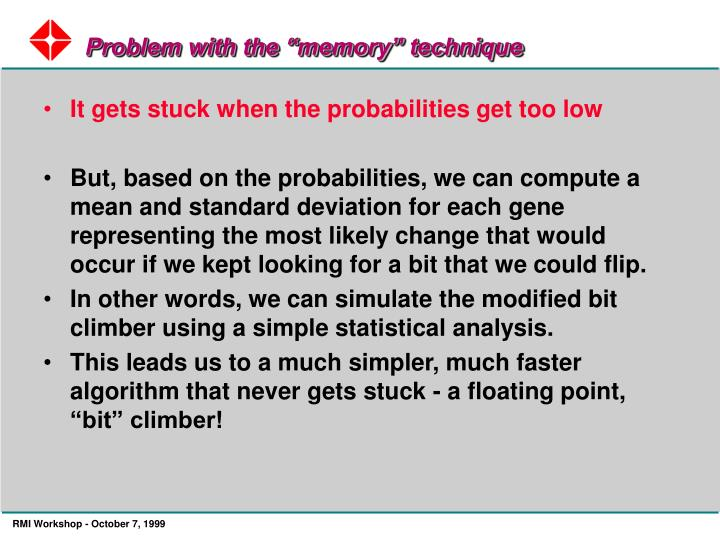 """Problem with the """"memory"""" technique"""