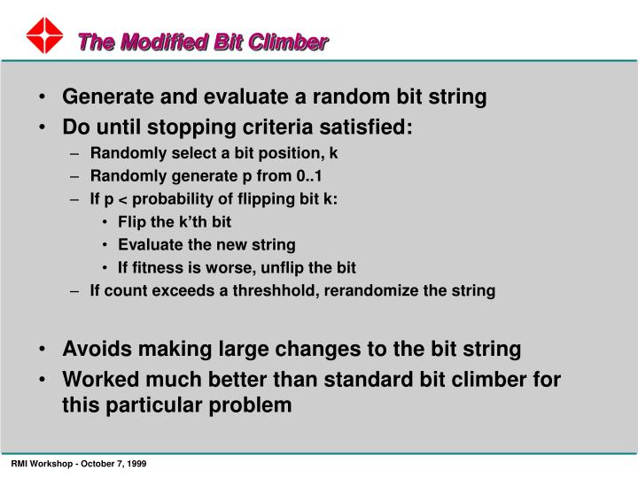 The Modified Bit Climber
