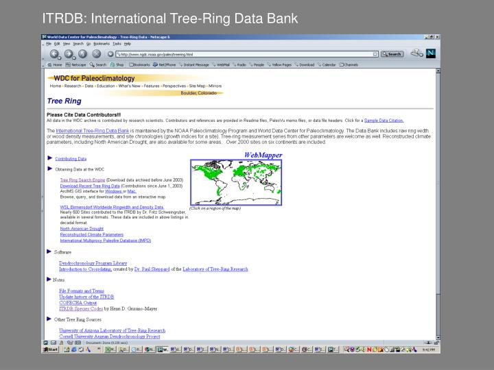 ITRDB: International Tree-Ring Data Bank