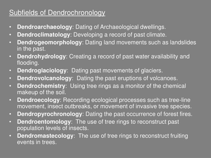Subfields of Dendrochronology
