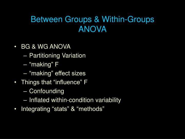 between groups within groups anova