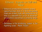 ethanol impacts on soil and water2