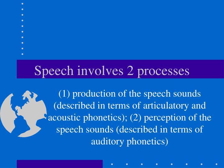 Speech involves 2 processes