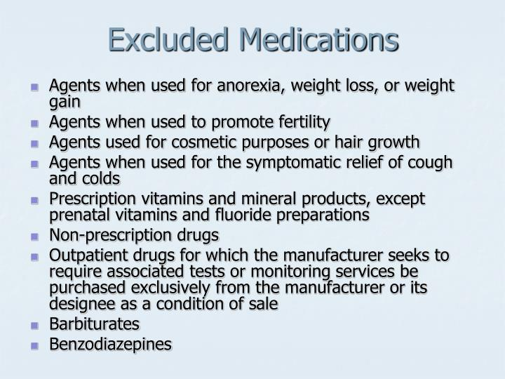 Excluded Medications