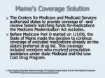 maine s coverage solution