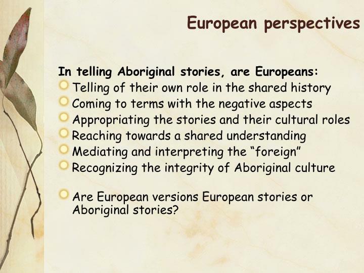 European perspectives