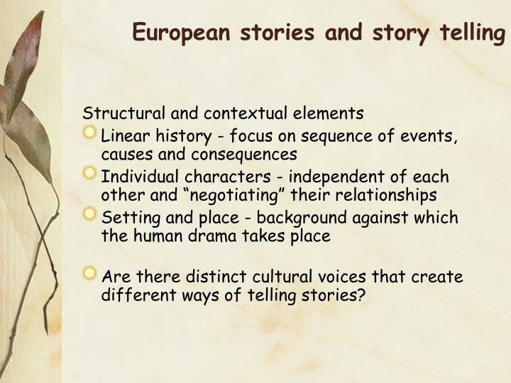 European stories and story telling