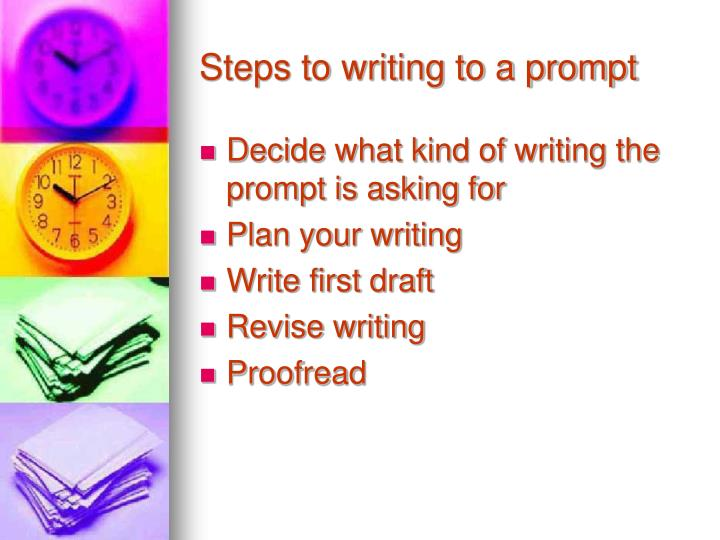 Steps to writing to a prompt
