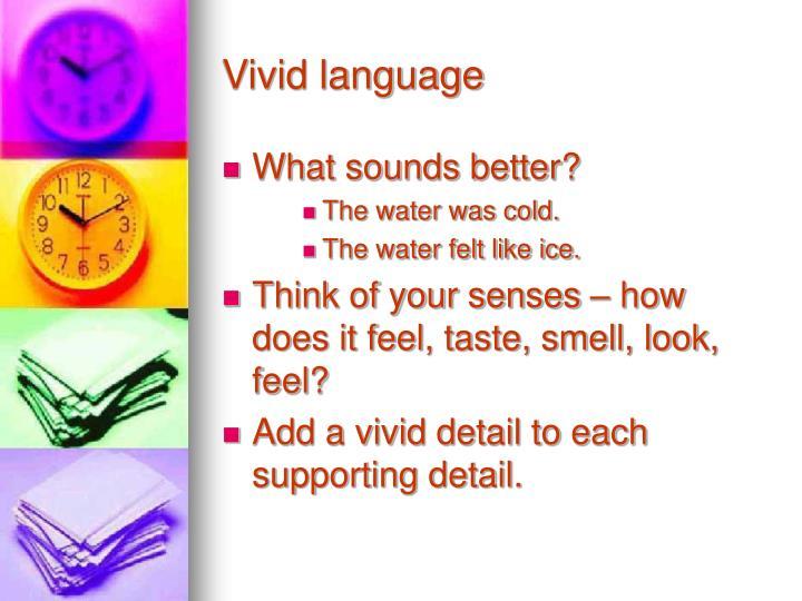 Vivid language