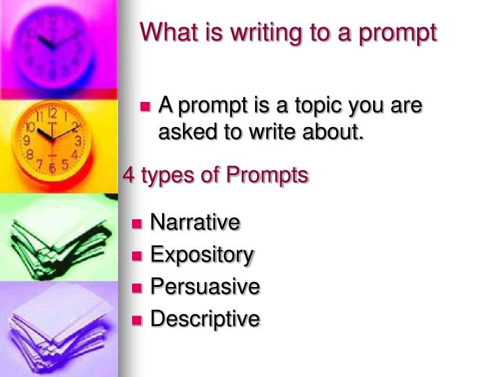 What is writing to a prompt