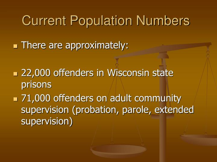 Current Population Numbers