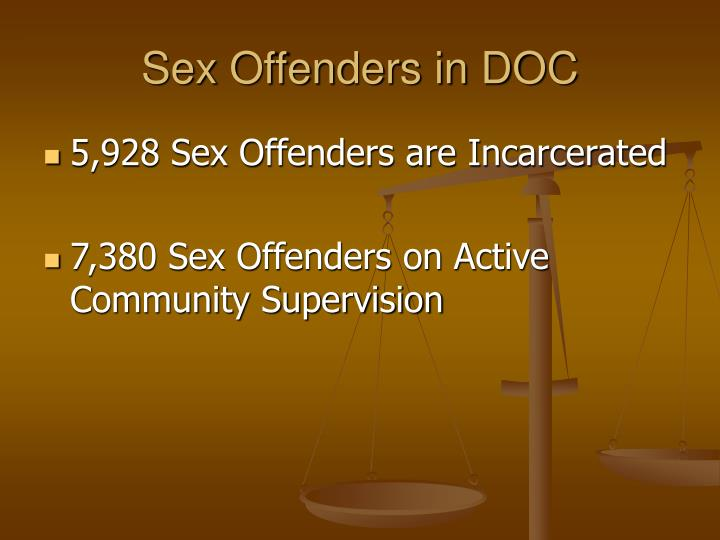 Sex Offenders in DOC