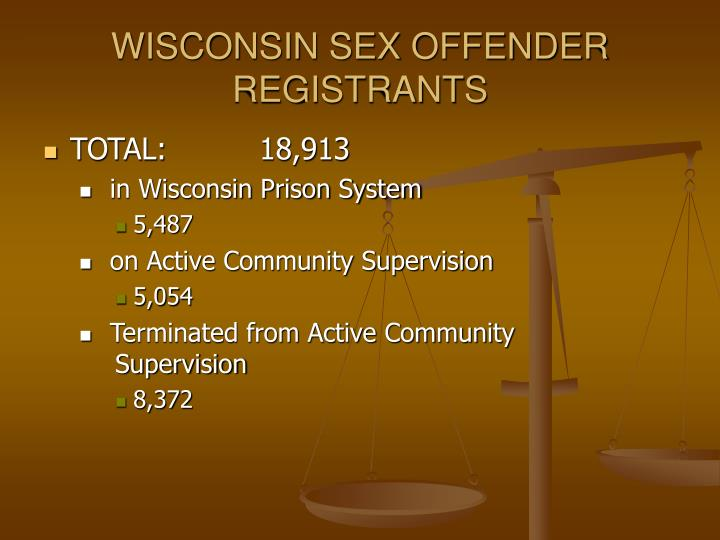 WISCONSIN SEX OFFENDER REGISTRANTS