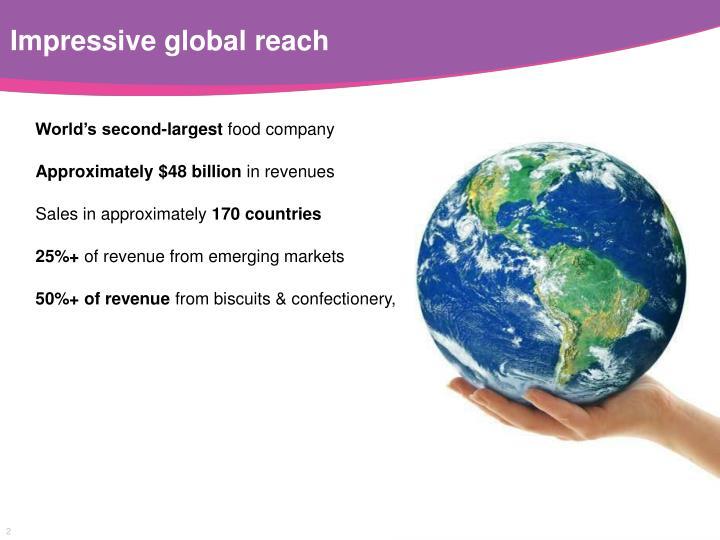 Impressive global reach