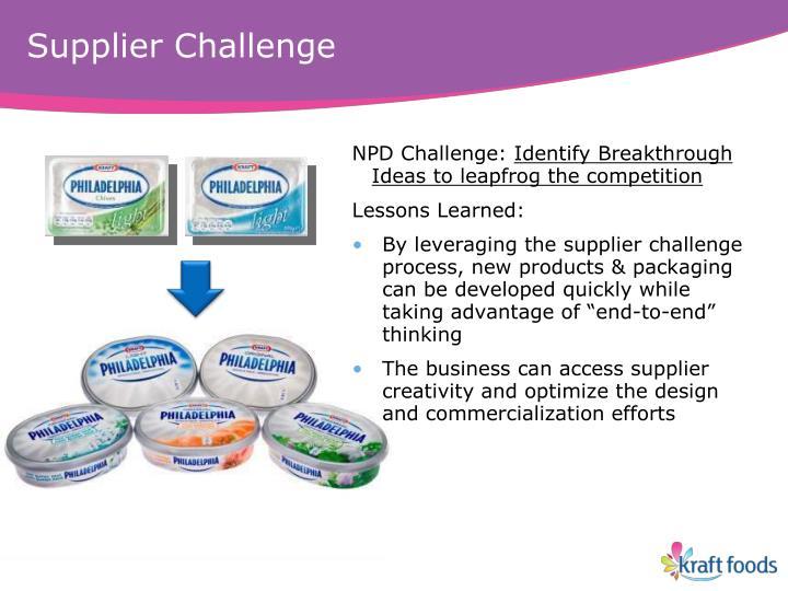 Supplier Challenge