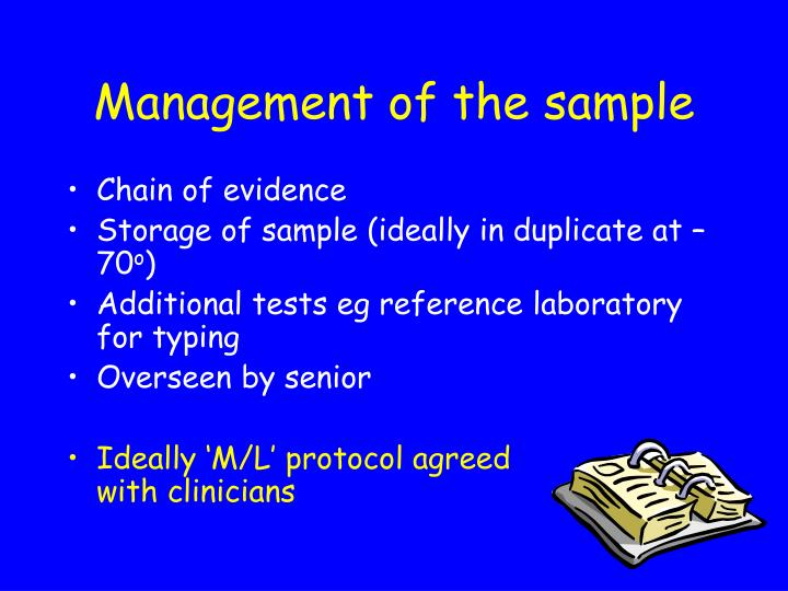 Management of the sample