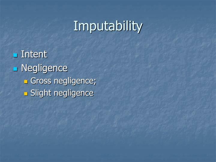 Imputability