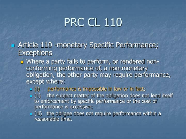 PRC CL 110