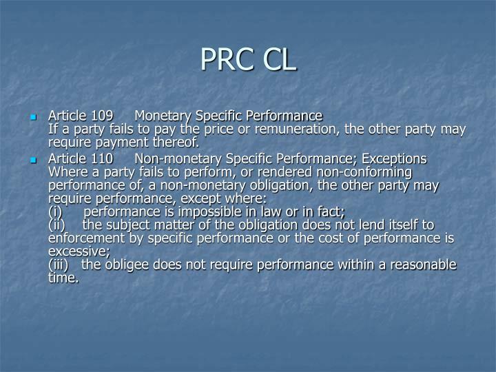 PRC CL