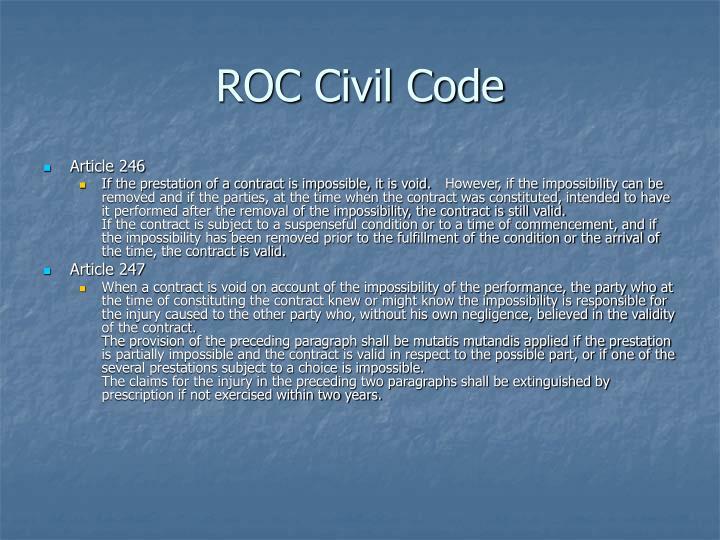 ROC Civil Code
