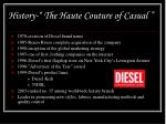 history the haute couture of casual