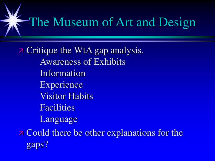 The Museum of Art and Design