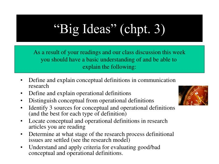"""Big Ideas"" (chpt. 3)"