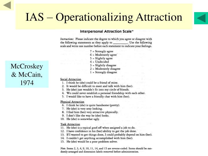 IAS – Operationalizing Attraction