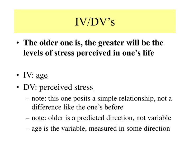 IV/DV's