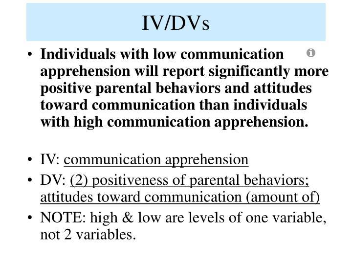 IV/DVs