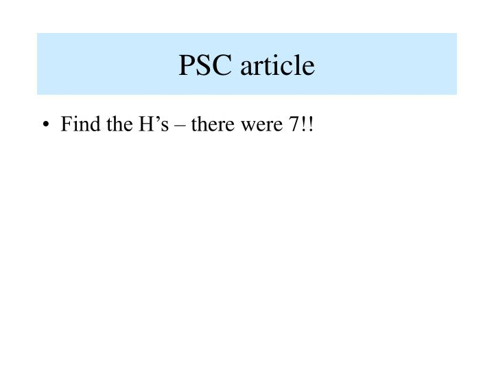 PSC article