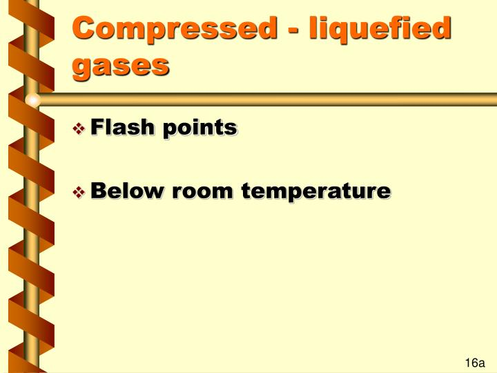 Compressed - liquefied gases