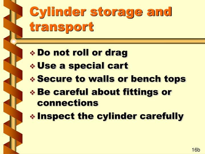 Cylinder storage and transport