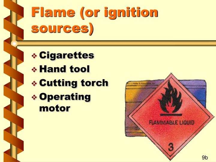 Flame (or ignition sources)