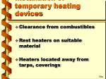 installation of temporary heating devices