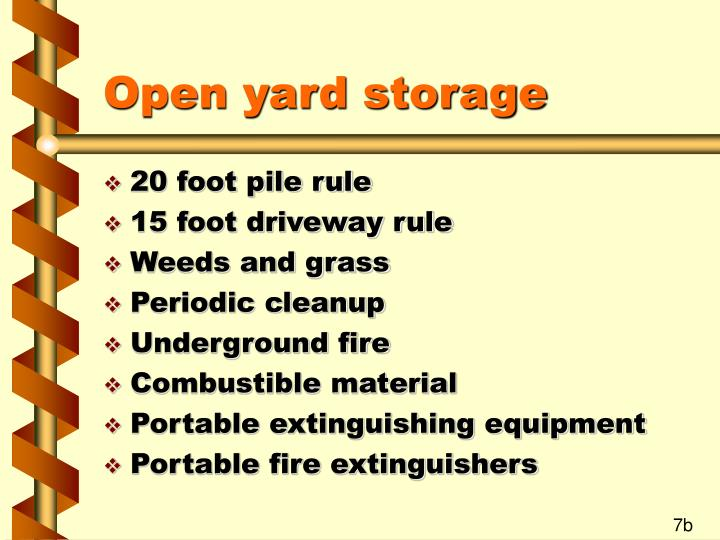 Open yard storage