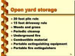 open yard storage