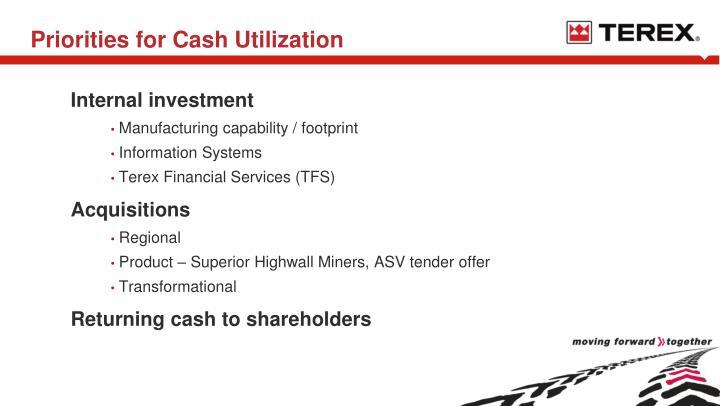 Priorities for Cash Utilization