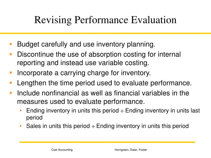 Revising Performance Evaluation