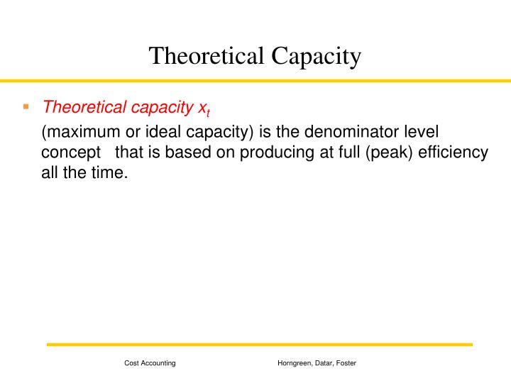 Theoretical Capacity
