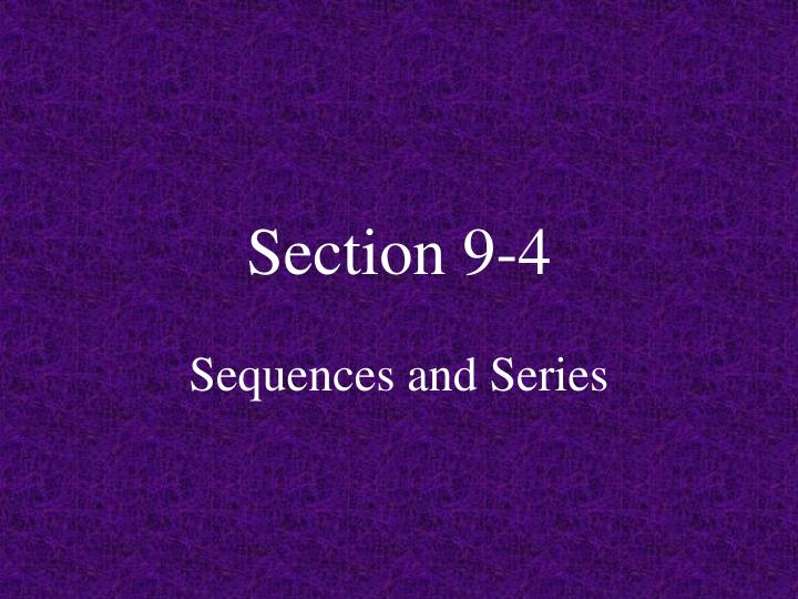 section 9 4
