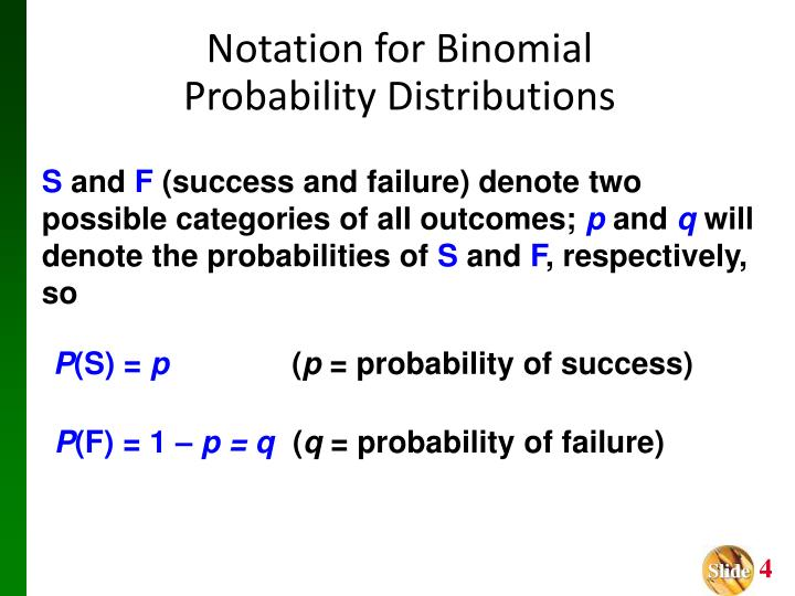 Notation for Binomial