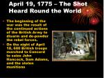 april 19 1775 the shot heard round the world