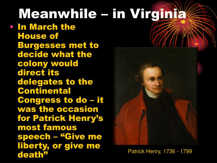 Meanwhile – in Virginia