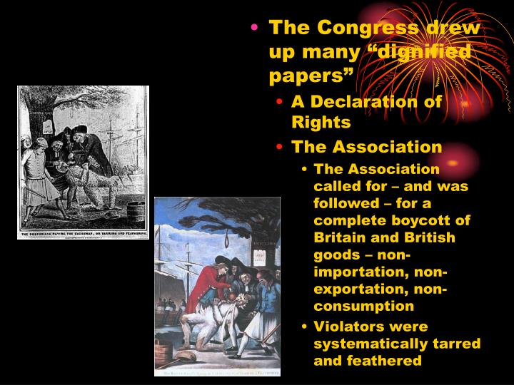 """The Congress drew up many """"dignified papers"""""""